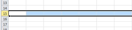 Excel 2010 Rijen