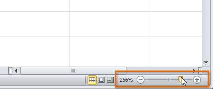 Zoomregeling Excel 2010