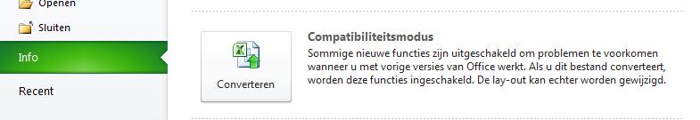 Compabiliteitsmodus_Converteren_Excel_2010