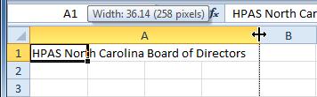 Excel kolom breder maken