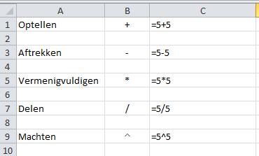 Excel_-_eenvoudige_formules