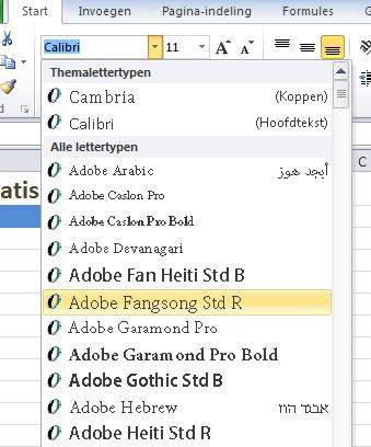 Excel_2010_Lettertypen
