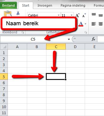 Naambereik Excel 2010