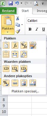 Plakken_Speciaal_Excel_2010