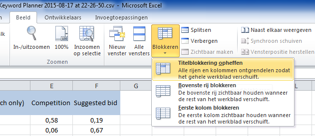 Titelblokkering_opheffen_Excel_2010