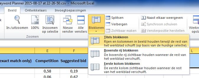 Titels_blokkeren_functie_excel_2010