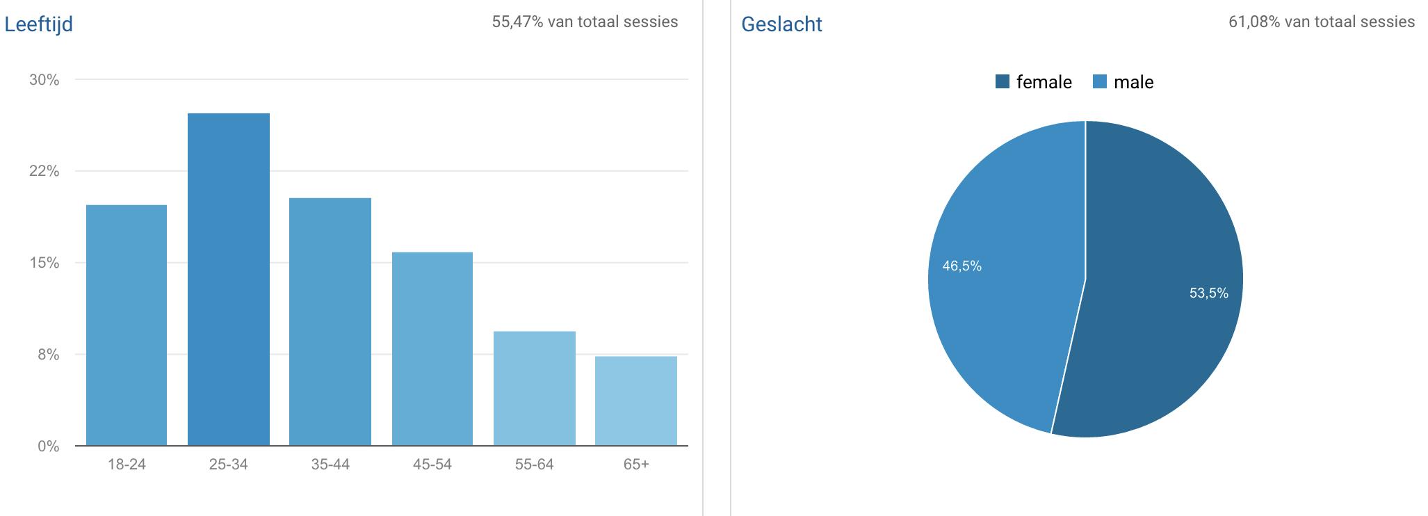 demografische gegevens Google Analytics