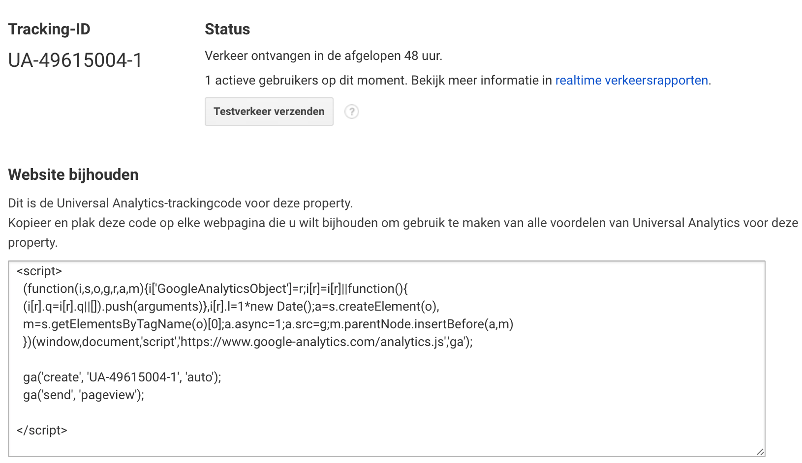 google analytics tracking-id
