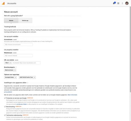 google analytics tracking id ophalen
